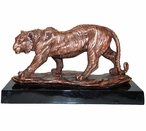 Large Copper Walking Tiger Statue