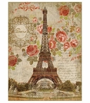 Large Dreaming of Paris Eiffel Tower Vintage Style Metal Sign