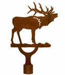 Large Elk Metal Lamp Finial