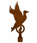 Large Flying Duck Metal Lamp Finial