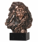 Large Indian Chief Statue - Copper Finish