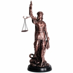 Large Lady of Justice Statue - Copper Finish