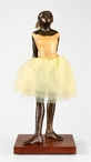 Large Little Dancer Ballerina with Fabric Skirt Statue by Edgar Degas