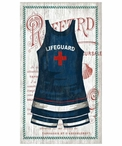 Large Old Fashioned Lifeguard Swimsuit Vintage Style Metal Sign