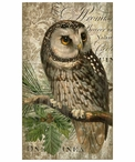 Large Owl Bird Vintage Style Metal Sign