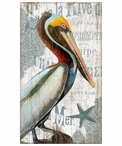 Large Pelican Bird Vintage Style Metal Sign