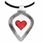 Large Red Heart Crystal Necklace By Mats Jonasson