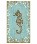 Large Seahorse Facing Left Vintage Style Metal Sign