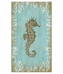 Large Seahorse Facing Right Vintage Style Metal Sign