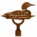 Large Swimming Loon Metal Lamp Finial