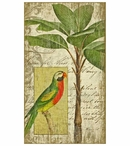 Large Tropical Parrot Bird I Vintage Style Metal Sign