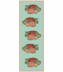 Lg Very Fishy Lt Blue Abstract Fish Vertical Vintage Style Metal Sign