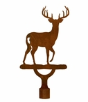 Large Whitetail Deer Metal Lamp Finial
