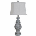Latham Resin Table Lamp with Natural Linen Shade