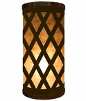 Lattice Metal Cylinder Pillar Table Lamp