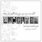 Laughter Absorbent Beverage Coasters by Jan Shade Beach, Set of 12