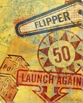Launch Again Pinball Wrapped Canvas Giclee Print Wall Art