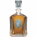 Law Enforcement Protect Serve Blue Capitol Glass Decanter with Pewter