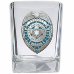 Law Enforcement Protect Serve Blue Pewter Accent Shot Glass, Set of 4