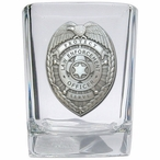 Law Enforcement Protect Serve Pewter Accent Shot Glasses, Set of 4