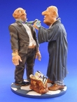 Lawyer Arguing with Client Statue