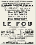 Le Fou Theater Poster Wrapped Canvas Giclee Print Wall Art