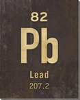 Lead - Periodic Table of Elements Wrapped Canvas Giclee Print