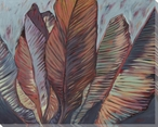 Leaf Pattern Wrapped Canvas Giclee Print Wall Art