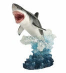 Leaping Great White Shark Sculpture