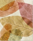 Leaves Intersecting Warm 3 Wrapped Canvas Giclee Print Wall Art