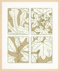 Leaves of Nature No. 3 Matted and Framed Art Print Wall Art
