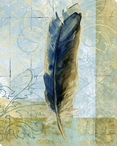 Left Feather Wrapped Canvas Giclee Print Wall Art