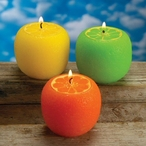 Lemon Lime Orange Citrus Scented Candles, Set of 6