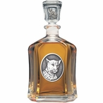 Leopard Capitol Glass Decanter with Pewter Accents