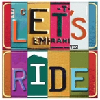 Let's Ride Absorbent Beverage Coasters by Kate Ward Thacker, Set of 12