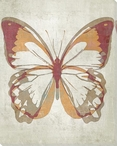 Letterpress Butterfly Orange Red Wrapped Canvas Giclee Print Wall Art