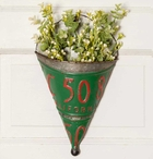 License Plate Metal Wall Planters, Set of 2