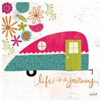 Life is a Journey Camper Absorbent Beverage Coasters, Set of 12