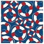 Life Saver Pattern Beverage Coasters by Heidi Dobrott, Set of 8