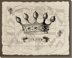 Light Crowns 4 Wrapped Canvas Giclee Print Wall Art
