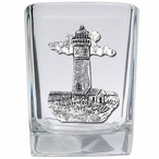 Lighthouse Pewter Accent Shot Glasses, Set of 4