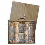 Lighthouse Pilsner Glasses & Beer Mugs Box Set with Pewter Accents