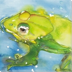 Lil' Prince Frog Wrapped Canvas Giclee Print Wall Art
