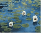 Lilies At Dawn Wrapped Canvas Giclee Print Wall Art