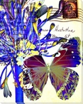 Lilies of the Nile Butterfly 1 Wrapped Canvas Giclee Print