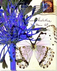Lilies of the Nile Butterfly 4 Wrapped Canvas Giclee Print