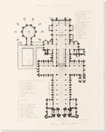 Lincoln Cathedral Ground Plan Wrapped Canvas Giclee Art Print Wall Art