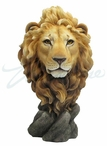 Lion Head Bust Sculpture