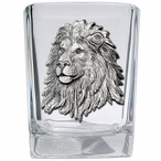 Lion Pewter Accent Shot Glasses, Set of 4