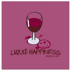 Liquid Happiness Beverage Coasters by Wine is Life, Set of 12